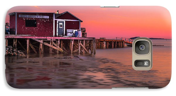 Galaxy Case featuring the photograph Maine Coastal Sunset At Dicks Lobsters - Crabs Shack by Ranjay Mitra