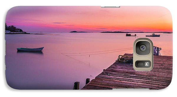 Galaxy Case featuring the photograph Maine Cooks Corner Lobster Shack At Sunset by Ranjay Mitra