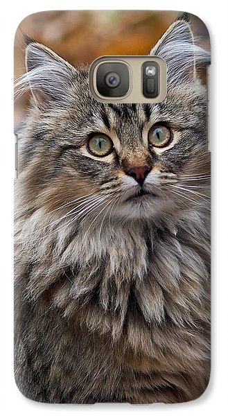 Galaxy Case featuring the photograph Maine Coon Cat by Rona Black