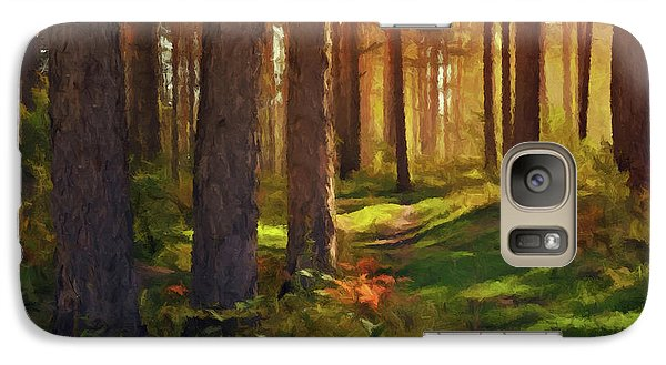 Galaxy Case featuring the photograph Maine Forest Sunset by David Dehner