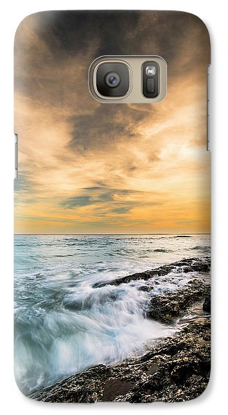 Galaxy Case featuring the photograph Maine Rocky Coastal Sunset by Ranjay Mitra