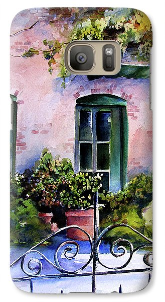 Galaxy Case featuring the painting Maison Fleurie by Marti Green