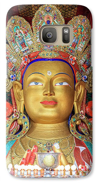Galaxy Case featuring the photograph Maitreya Buddha Statue by Alexey Stiop