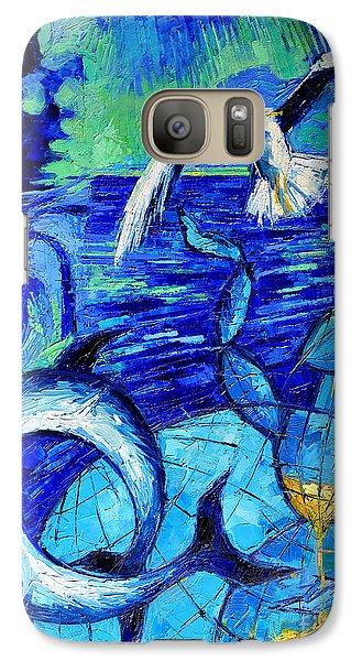Majestic Bleu Galaxy S7 Case by Mona Edulesco