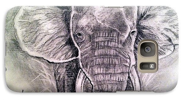 Galaxy Case featuring the painting Majestic Elephant by Brindha Naveen
