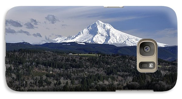 Galaxy Case featuring the photograph Majestic Mt Hood by Jim Walls PhotoArtist