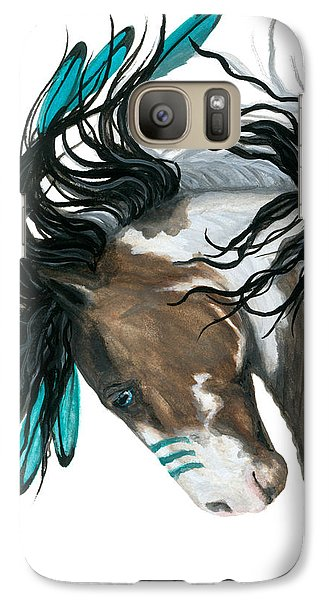 Horse Galaxy S7 Case - Majestic Turquoise Horse by AmyLyn Bihrle