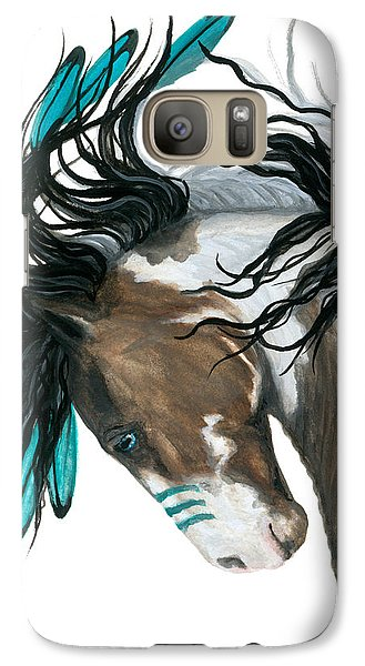 Majestic Turquoise Horse Galaxy Case by AmyLyn Bihrle