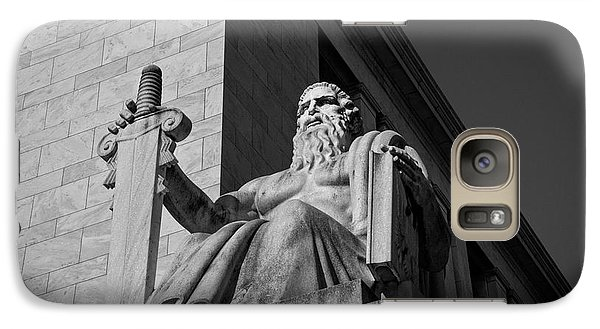 Galaxy Case featuring the photograph Majesty Of Law In Black And White by Chrystal Mimbs