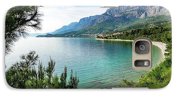Makarska Riviera White Stone Beach, Dalmatian Coast, Croatia Galaxy S7 Case