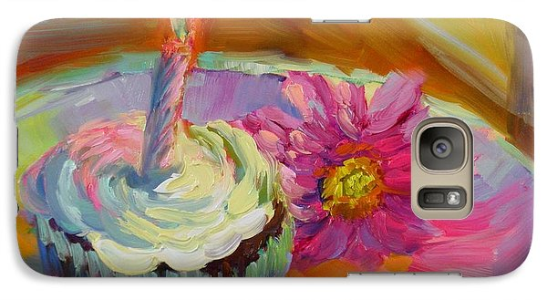 Galaxy Case featuring the painting Make A Wish by Chris Brandley