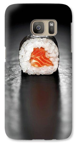 Salmon Galaxy S7 Case - Maki Sushi Roll With Salmon by Johan Swanepoel