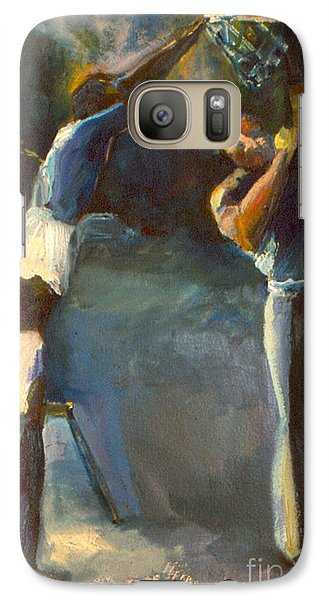 Galaxy Case featuring the painting Makin Basketball by Daun Soden-Greene