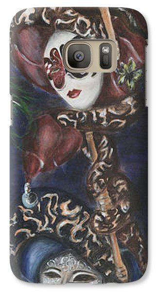 Galaxy Case featuring the painting Making Faces Venetian by Nik Helbig