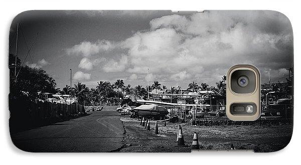 Galaxy Case featuring the photograph Mala Wharf Ala Moana Street Lahaina Maui Hawaii by Sharon Mau