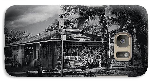 Galaxy Case featuring the photograph Mala Wharf Showers Lahaina Maui Hawaii by Sharon Mau