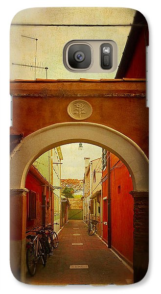 Galaxy Case featuring the photograph Malamocco Arch No1 by Anne Kotan