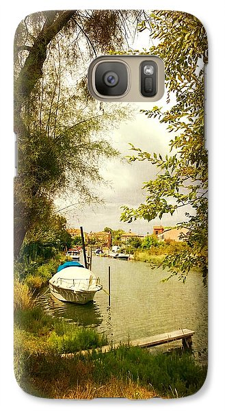 Galaxy Case featuring the photograph Malamocco Canal No1 by Anne Kotan