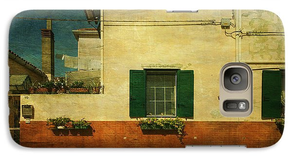 Galaxy Case featuring the photograph Malamocco Facade No1 by Anne Kotan