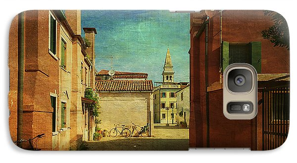 Galaxy Case featuring the photograph Malamocco Perspective No3 by Anne Kotan