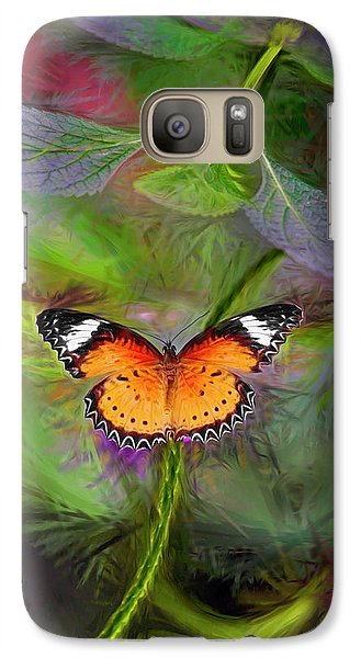 Galaxy Case featuring the digital art Malay Lacewing  What A Great Place by James Steele
