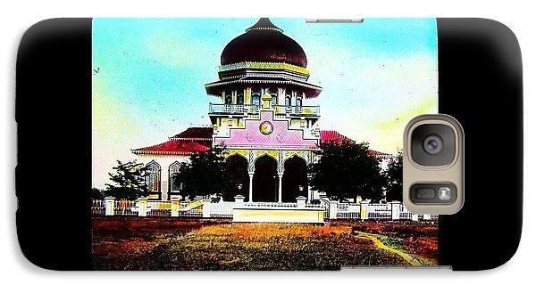Galaxy Case featuring the photograph Malay Mosque Singapore Circa 1910 by Peter Gumaer Ogden