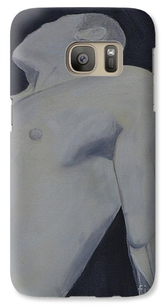 Galaxy Case featuring the painting Male Black And White by Lori Jacobus-Crawford