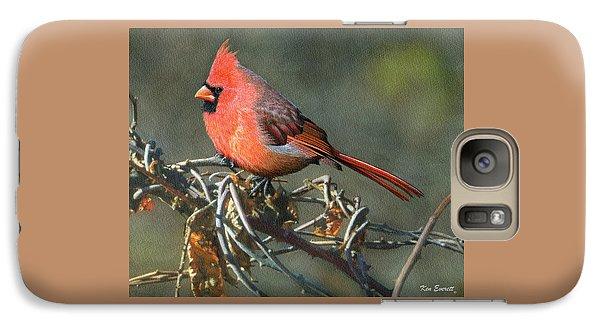 Male Cardinal Galaxy S7 Case by Ken Everett