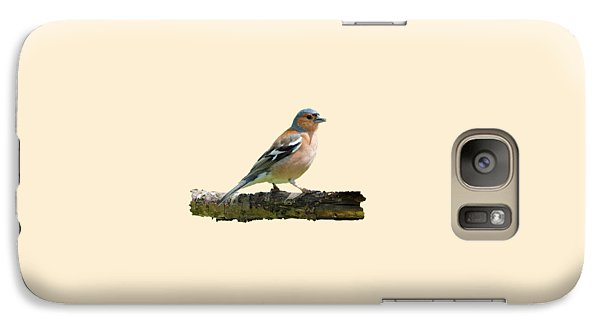 Galaxy Case featuring the photograph Male Chaffinch, Transparent Background by Paul Gulliver