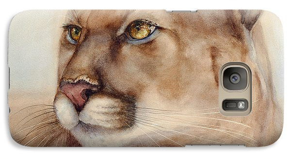 Galaxy Case featuring the painting Male Cougar by Bonnie Rinier