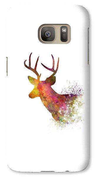 Male Deer 02 In Watercolor Galaxy S7 Case
