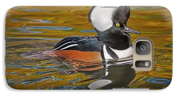 Galaxy Case featuring the photograph Male Hooded Merganser Duck by Susan Candelario