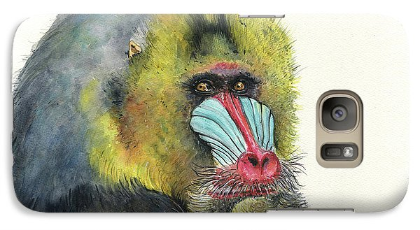 Ape Galaxy S7 Case - Male Mandrill by Juan Bosco