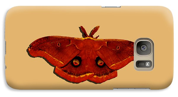 Galaxy Case featuring the photograph Male Moth Red .png by Al Powell Photography USA