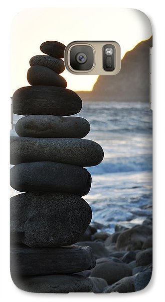 Galaxy Case featuring the photograph Malibu Balanced Rocks by Kyle Hanson