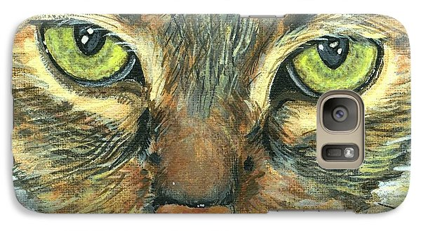 Galaxy Case featuring the painting Malika by Mary-Lee Sanders