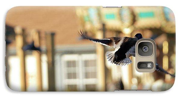Cedar Waxing Galaxy S7 Case - Mallard Duck And Carousel by Geraldine Scull