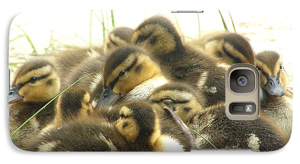 Galaxy Case featuring the photograph Mallard Ducklings by Angie Rea