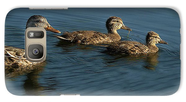 Galaxy Case featuring the photograph Mallard Family Outing by Jean Noren