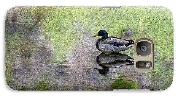 Galaxy S7 Case featuring the photograph Mallard In Mountain Water by Mark Myhaver