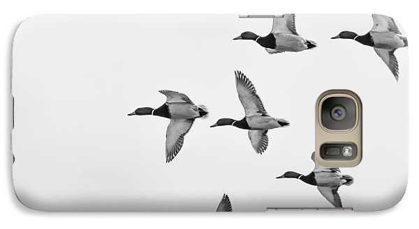 Galaxy Case featuring the photograph Mallards by Dan Traun