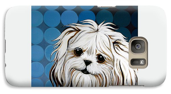 Galaxy Case featuring the painting Maltese Magic by Leanne WILKES