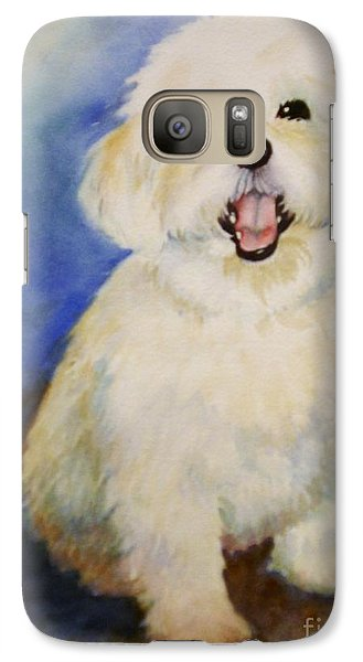 Galaxy Case featuring the painting Maltese Named Ben by Marilyn Jacobson