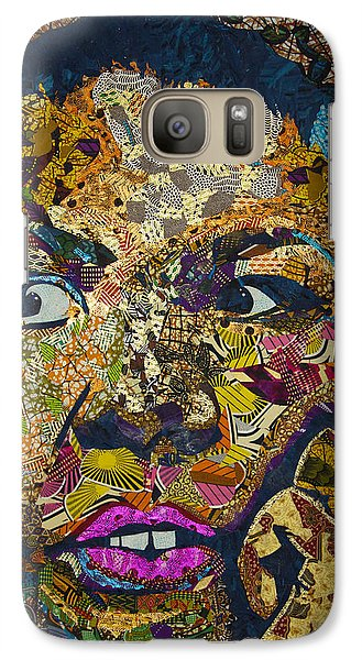 Galaxy Case featuring the tapestry - textile Mama's Watching by Apanaki Temitayo M