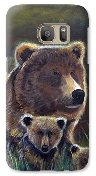Galaxy Case featuring the painting Mammas Warmth by Leslie Allen