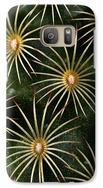 Galaxy Case featuring the photograph mammillaria elongata Cactus  by Catherine Lau