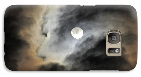 Galaxy Case featuring the photograph Man And Moon by Cindy Lee Longhini