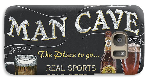 Man Cave Chalkboard Sign Galaxy S7 Case by Debbie DeWitt