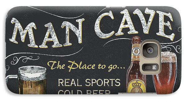 Man Cave Chalkboard Sign Galaxy S7 Case by Debbie DeWitt