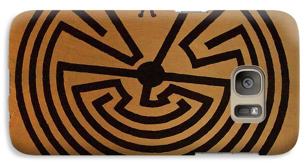 Galaxy Case featuring the photograph Man In Maze by Tom Singleton